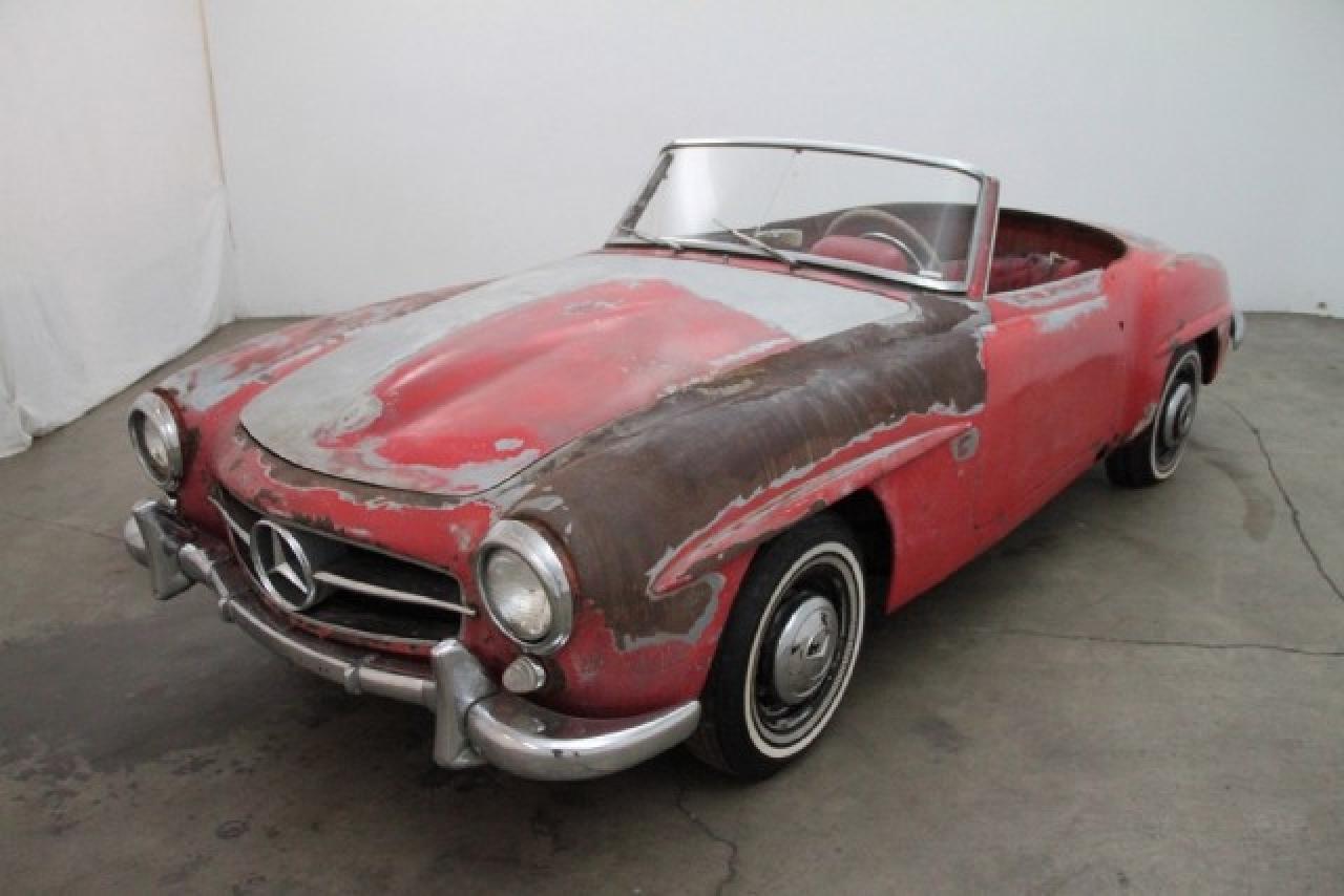 1955 mercedes benz 190sl frame off restoration in for Mercedes benz restoration