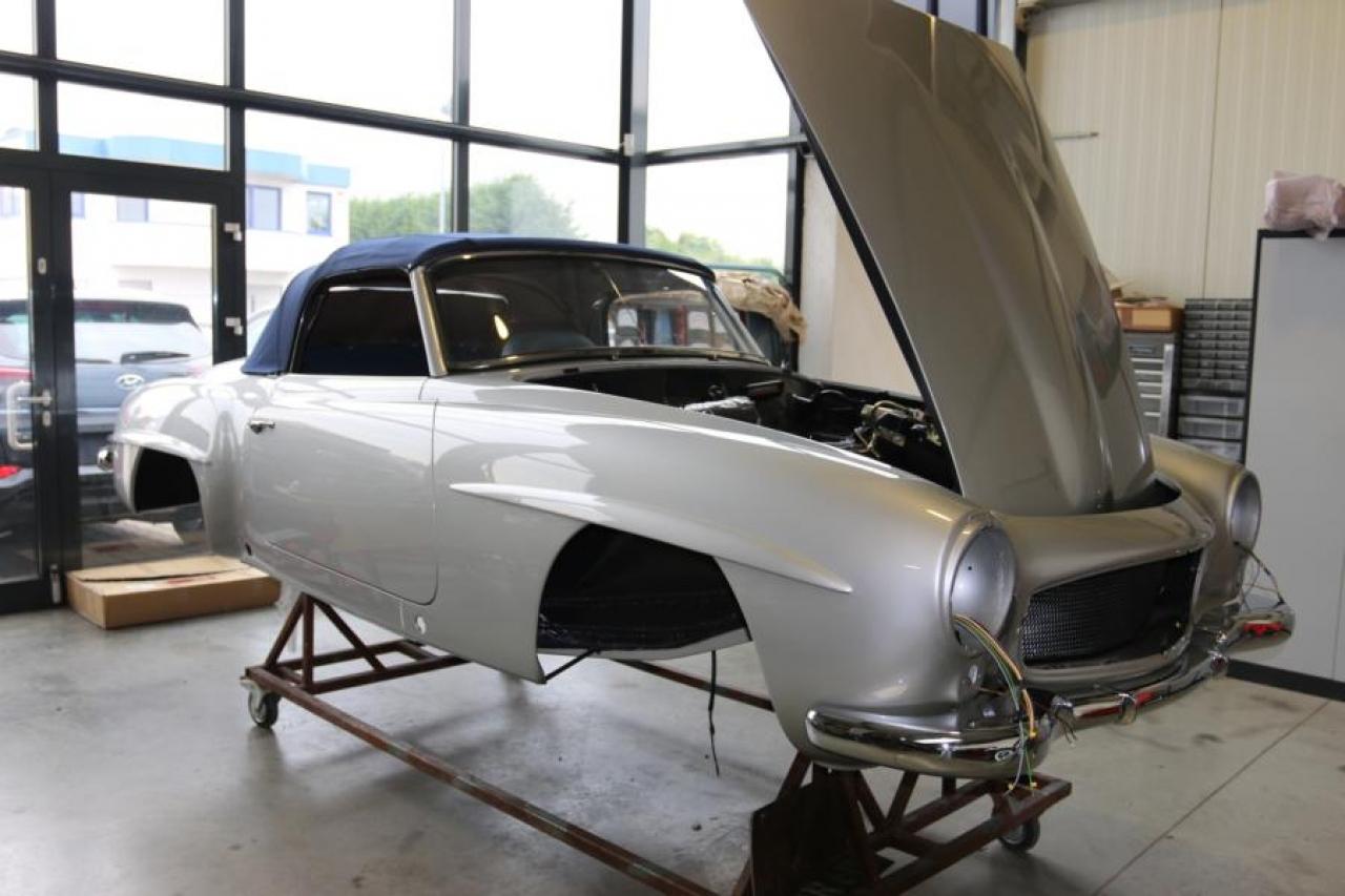 1955 Mercedes-Benz 190SL frame off restoration VIN# 5500001 ...